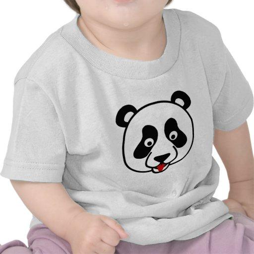 The Happy Panda Face T-shirts