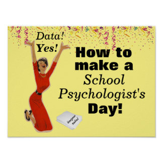 The Happy School Psychologist Poster