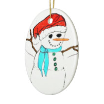 THE HAPPY SNOWMAN ornament