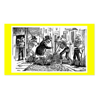 """""""The Happy Street Cleaner Calaveras"""" Business Cards"""