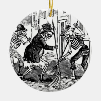"""The Happy Street Cleaner Calaveras"" Ceramic Ornament"