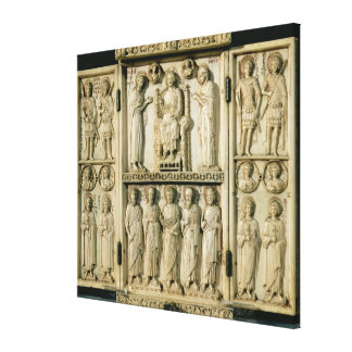 The Harbaville Triptych depicting Christ Enthroned Canvas Print