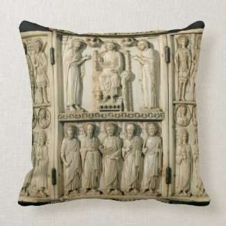 The Harbaville Triptych depicting Christ Enthroned Throw Pillow