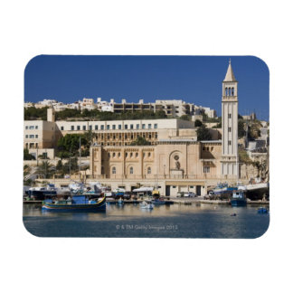 The harbor and church at Marsaskala on the Magnet