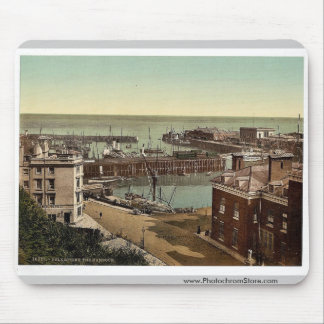 The harbor, Folkestone, England classic Photochrom Mousepad