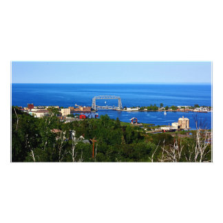 The Harbor from Skyline Photo Card Template