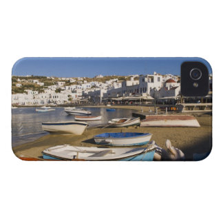 The harbor town with colorful fishing boats iPhone 4 covers