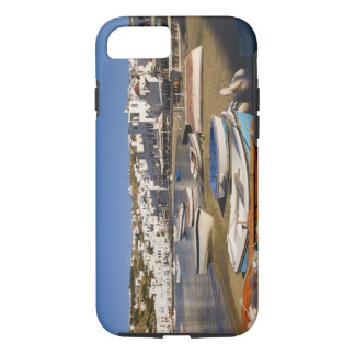 The harbor town with colorful fishing boats iPhone 8/7 case