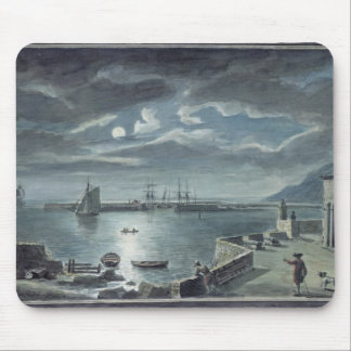 The Harbour and the Cobb, Lyme Regis by Moonlight Mouse Pad