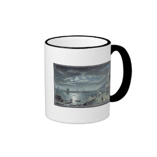 The Harbour and the Cobb, Lyme Regis by Moonlight Ringer Coffee Mug
