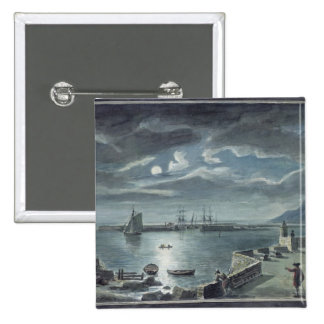 The Harbour and the Cobb, Lyme Regis by Moonlight Pinback Button