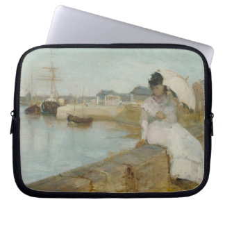 The Harbour at Lorient, 1869 (oil on canvas) Laptop Sleeves