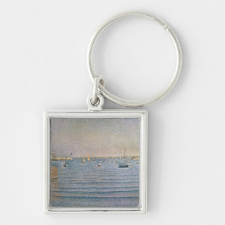 The Harbour at Portrieux, 1888 Keychain