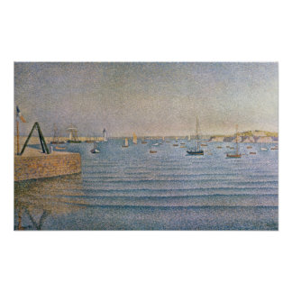 The Harbour at Portrieux, 1888 Poster
