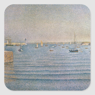The Harbour at Portrieux, 1888 Square Sticker