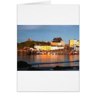 The Harbour At Tenby, South Wales Card