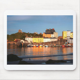 The Harbour At Tenby, South Wales Mouse Pad