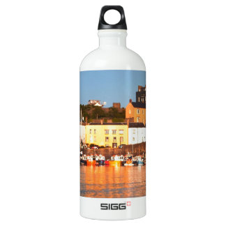 The Harbour At Tenby, South Wales Water Bottle