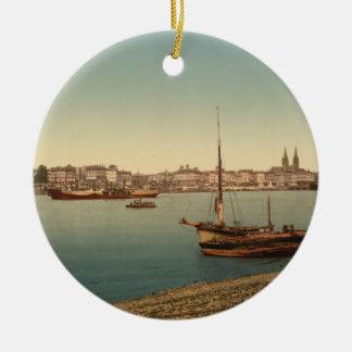 The Harbour, Bordeaux, France Ceramic Ornament