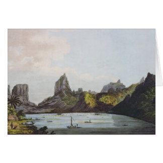 The Harbour of Taloo in the Island of Eimeo Card