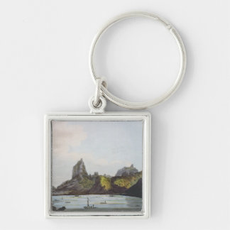 The Harbour of Taloo in the Island of Eimeo Keychain