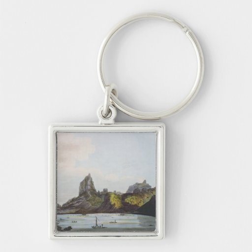 The Harbour of Taloo in the Island of Eimeo Key Chain