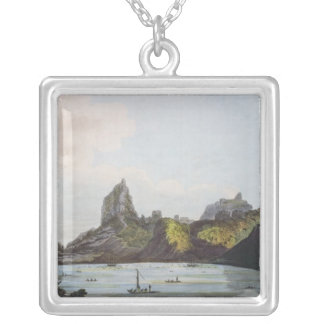 The Harbour of Taloo in the Island of Eimeo Silver Plated Necklace