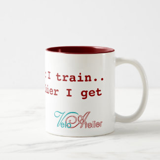 """The harder I train.."" Mug by Velo Atelier"