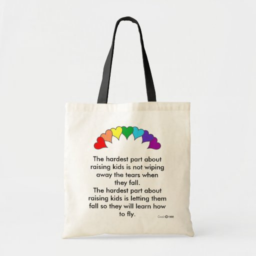 The hardest part about raising kids tote bags