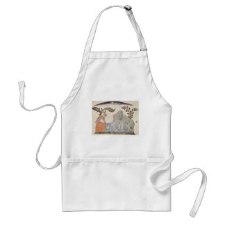 The Hare and the Elephant Adult Apron