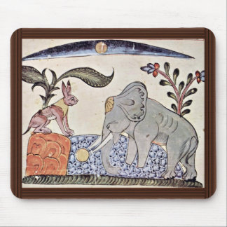 The Hare And The Elephant King In Front Of The Mir Mouse Pad