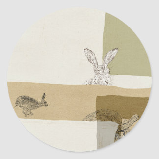 The Hare and the Tortoise An Aesop's Fable Classic Round Sticker