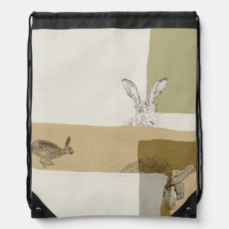 The Hare and the Tortoise An Aesop's Fable Drawstring Bag