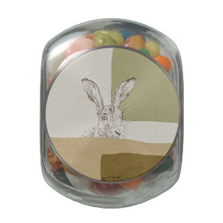The Hare and the Tortoise An Aesop's Fable Glass Candy Jars