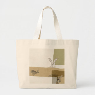 The Hare and the Tortoise An Aesop's Fable Large Tote Bag