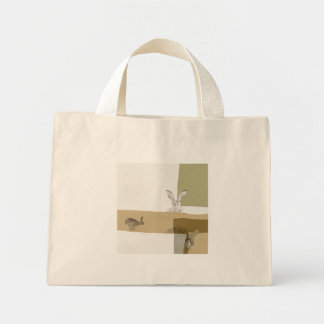 The Hare and the Tortoise An Aesop's Fable Mini Tote Bag