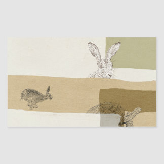 The Hare and the Tortoise An Aesop's Fable Rectangular Sticker