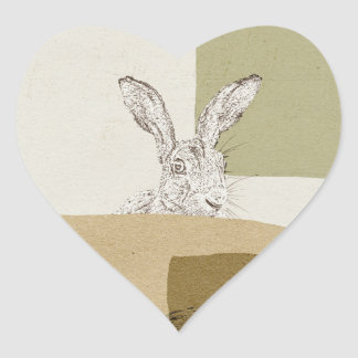 The Hare and the Tortoise An Aesop's Fable Heart Sticker