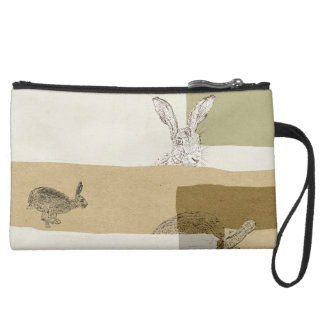 The Hare and the Tortoise An Aesop's Fable Suede Wristlet