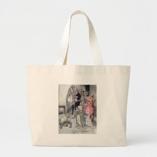 The Hare and the Tortoise Large Tote Bag