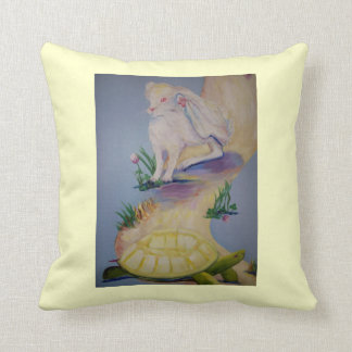 The Hare and the Tortoise painting Throw Pillow