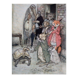 The Hare and the Tortoise Print