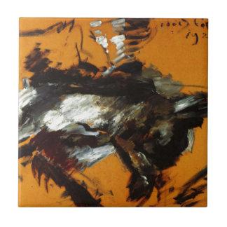 The Hare by Lovis Corinth Ceramic Tile