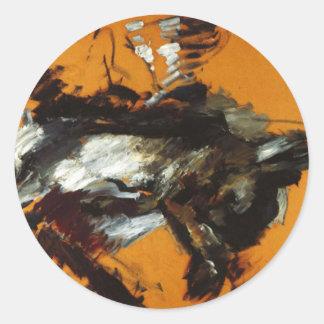 The Hare by Lovis Corinth Classic Round Sticker