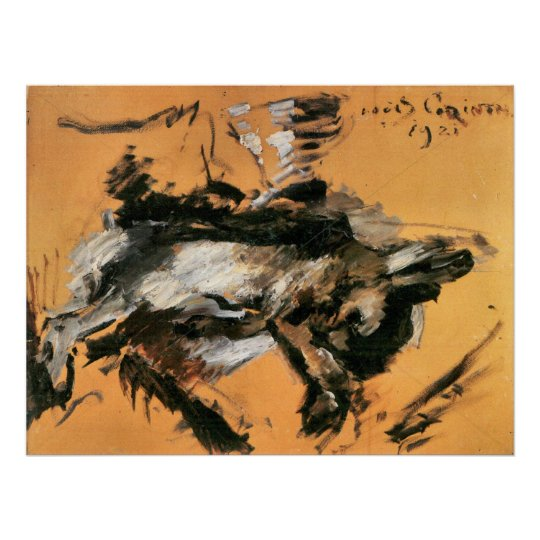 The hare by Lovis Corinth Poster