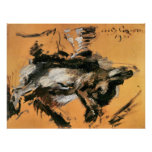 The hare by Lovis Corinth Print