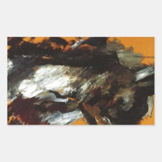 The Hare by Lovis Corinth Rectangular Sticker