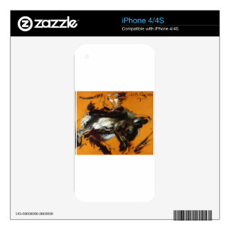 The Hare by Lovis Corinth Skin For iPhone 4