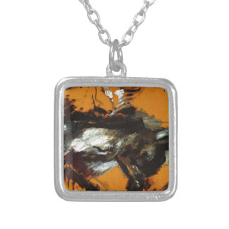 The Hare by Lovis Corinth Square Pendant Necklace