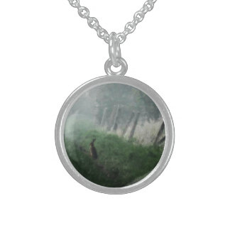 """""""The Hare I Saw in My Dream""""  Sterling Necklace"""